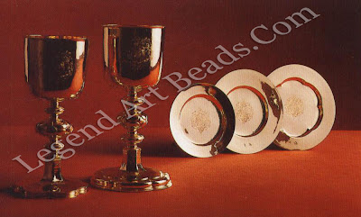 Gold Chalices and Patens, The gold chalice and paten of c.1661 were supplied for the coronation of Charles IL The second gold chalice and paten and the small gold paten, are of a later date, before 1688, and were most probably made for James, Duke of York, later James II.