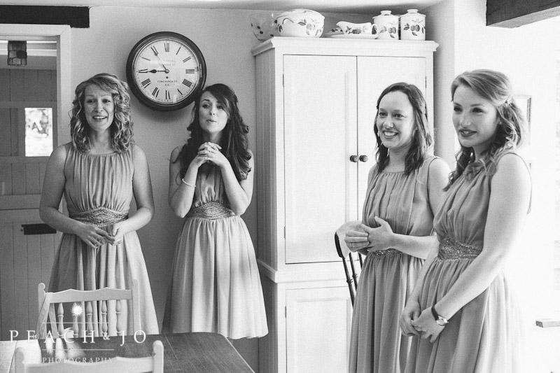 bridesmaids reaction shot