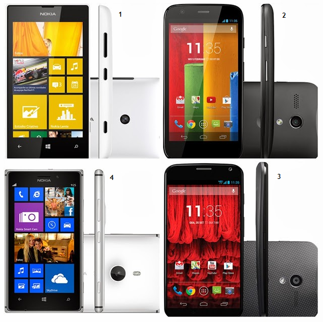 dica de presente smartphone Windows Phone Nokia Lumia e Android Motorola