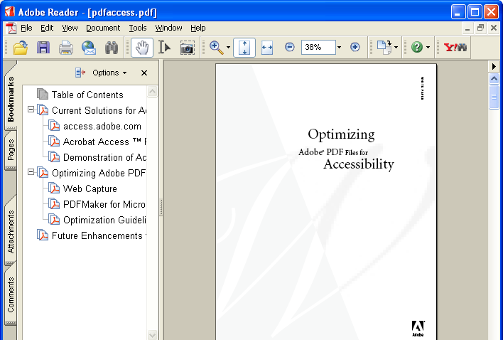 Configure browser to use the Adobe PDF plug-in to
