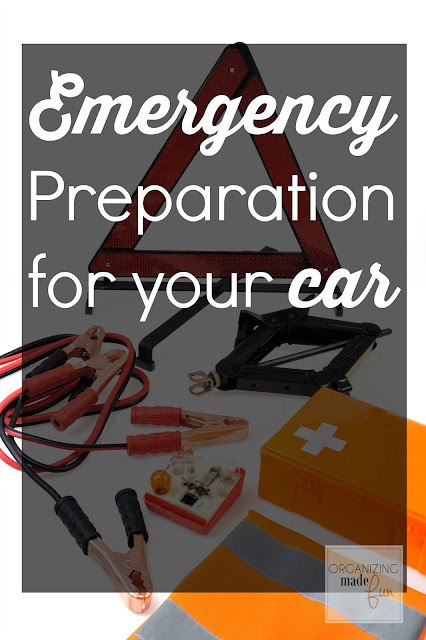 Emergency Preparation In Your Car  :: OrganizingMadeFun.com