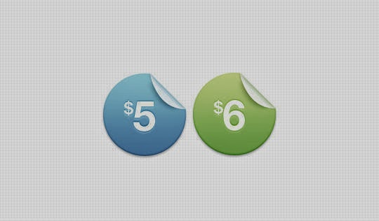 Price Sticker Buttons