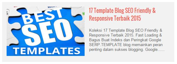 Membuat Featured Post Otomatis Per Label
