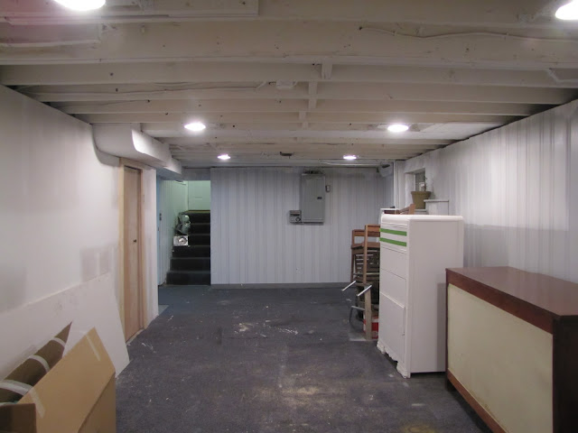 The Lovely Roost: Basement Remodel: Painting The Exposed Ceiling White