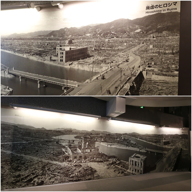 Feeling emotional while watching videos and looking at the pictures of how the radiation effects to the innocent victims of atomic bombing at Hiroshima Peace Museum in Japan