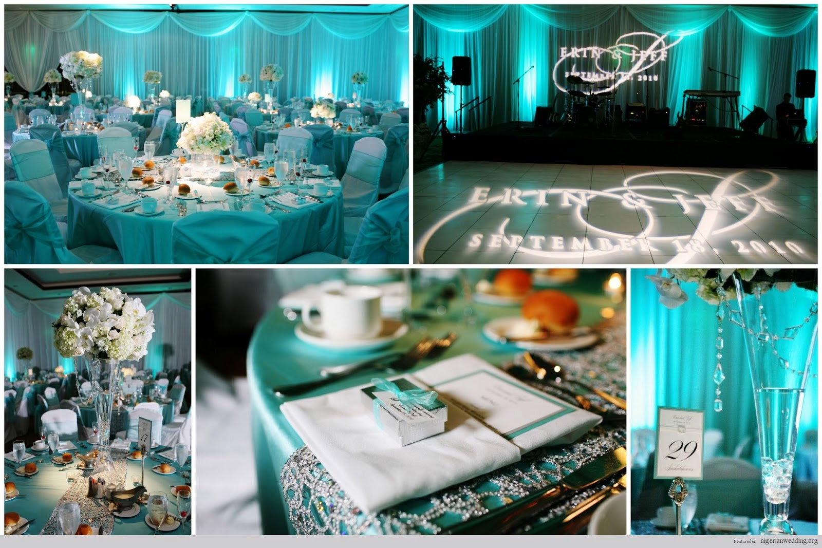 Nigerian Wedding Tiffany Blue Reception Theme 3