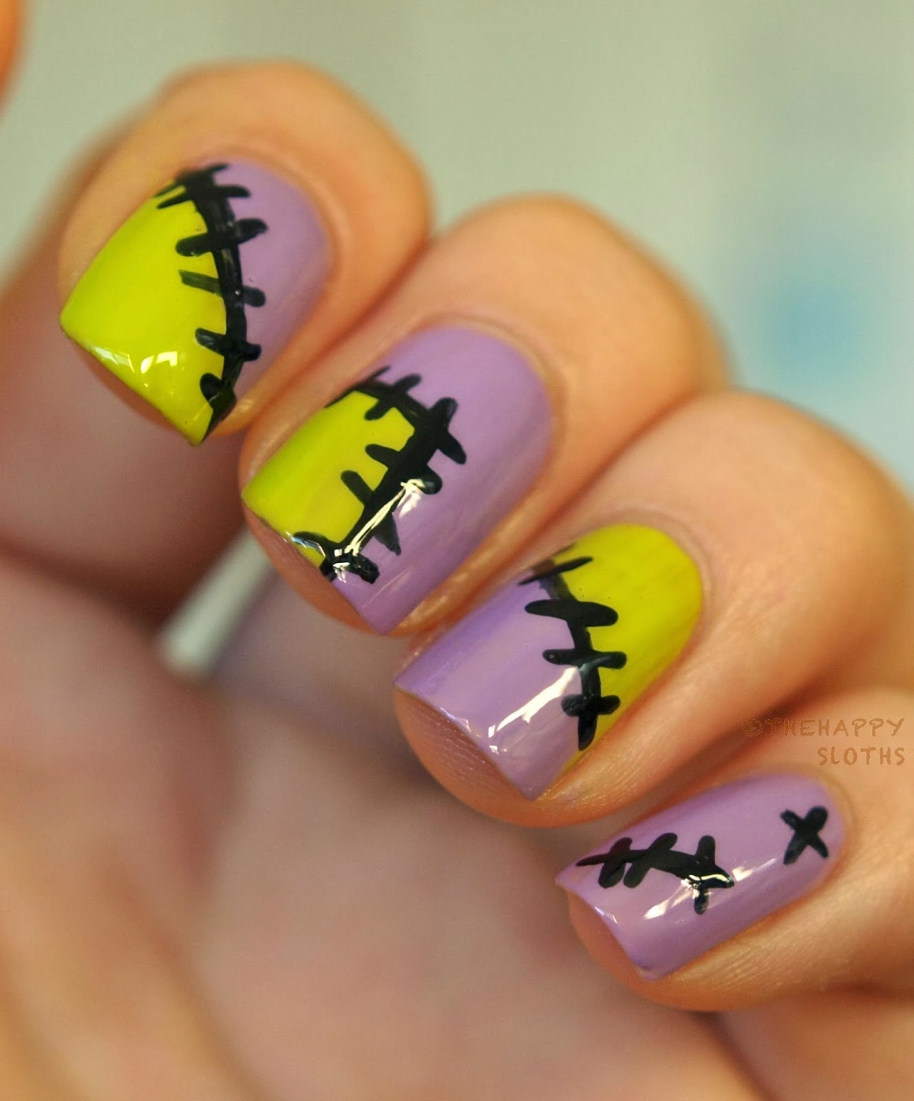 All Patched Up: Halloween Nail Art Design | The Happy Sloths: Beauty ...