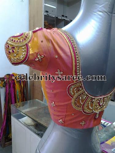 Classy Kundan Blouse Designs