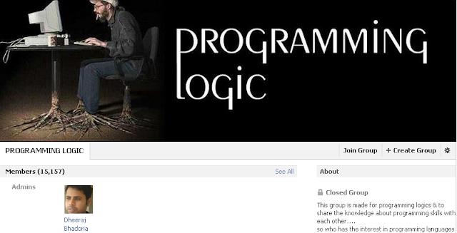 programming logic facebook group