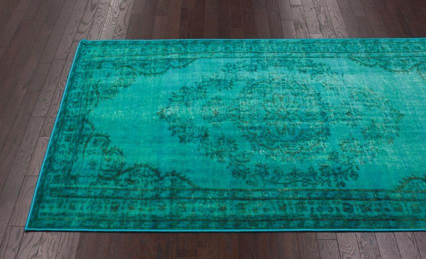 Rugs USA Overdyed Turquoise Rug
