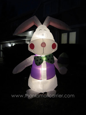 light up inflatable bunny