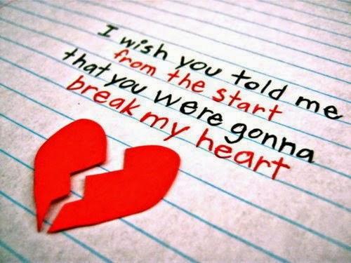You broke my heart letter