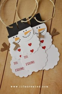 Enfeite de árvore de Natal - boneco de neve de papel