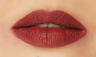 Sweet Touch Matte Lipstick in 727, Lipsticks, Lisptick review, Top 5 lipsticks of fall winter 2015, rusty brown lipstick, lips, pout, redalicerao, red alice rao, beauty, beauty blog, beauty blogger, top beauty blog