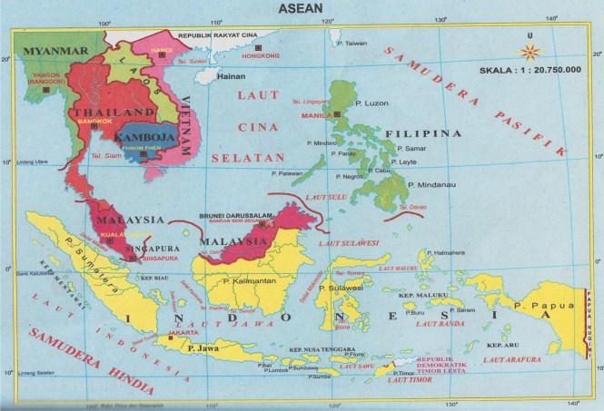 Peta Negara - Negara Asean