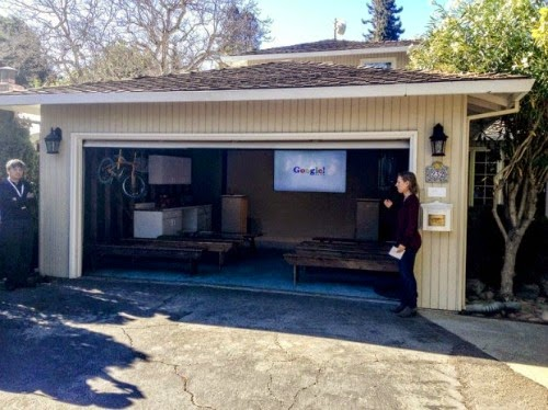 Google was established in the founder's friend garage