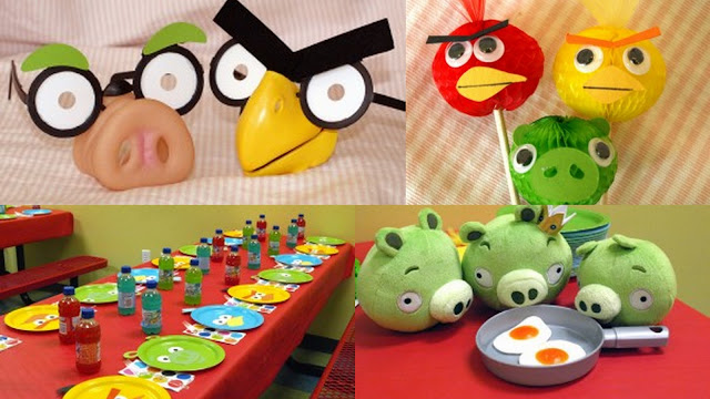 Angry Bird party collage ideas