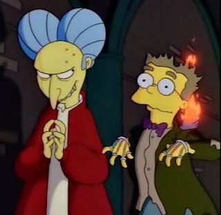 Burns jako Drakula