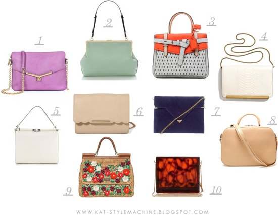 favorite delicate box bags and clutches, new for spring