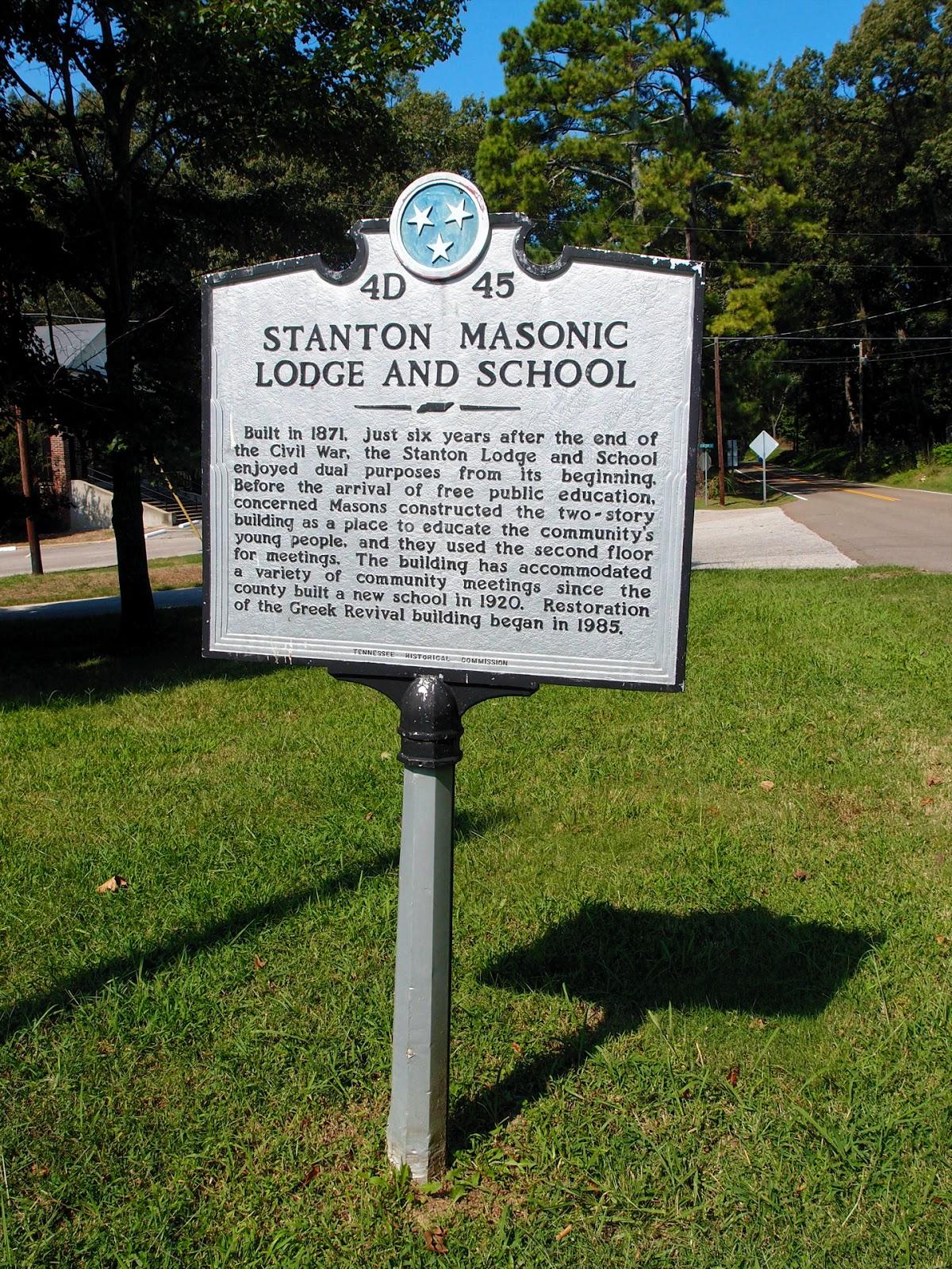 Tennessee haywood county stanton - Stanton Historic Marker