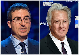 "John Oliver and Dustin Hoffman spar over sexual harassment allegations at a ""Wag the Dog"" Q&A"