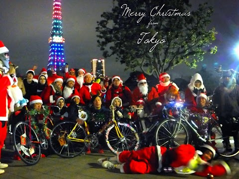 Night Pedal Cruising Christmas Ride Deluxe 2014 in Tokyo