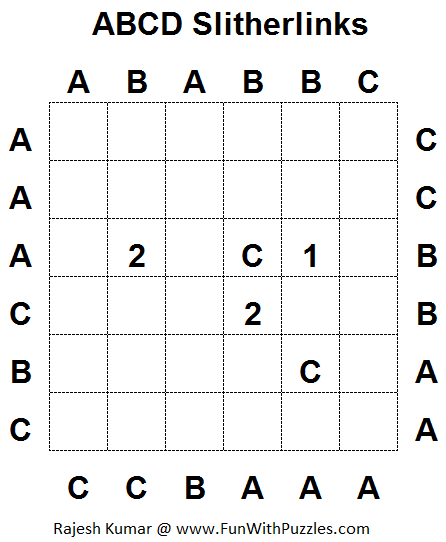 ABCD Slitherlinks (Fun With Puzzles #1)