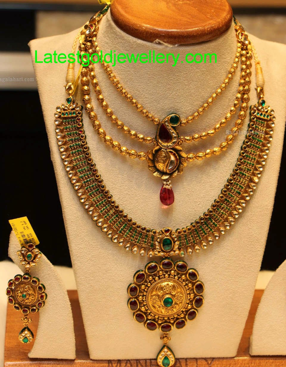 antique finish necklace designs