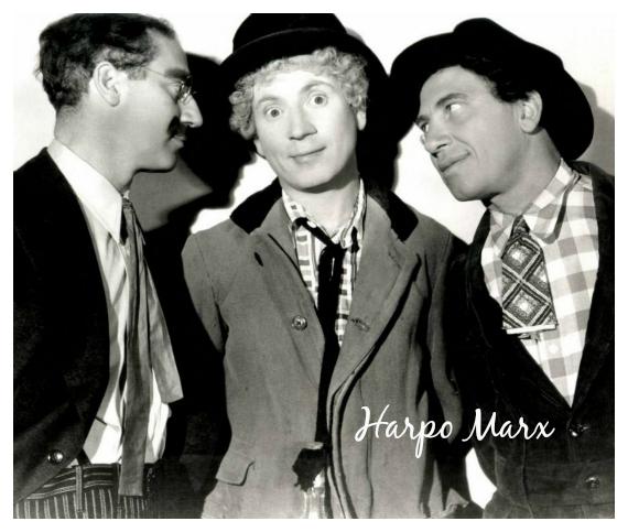 Harpo Marx habla curiosidades