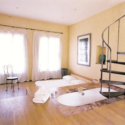 Habitación con Baño con vista a la Cama