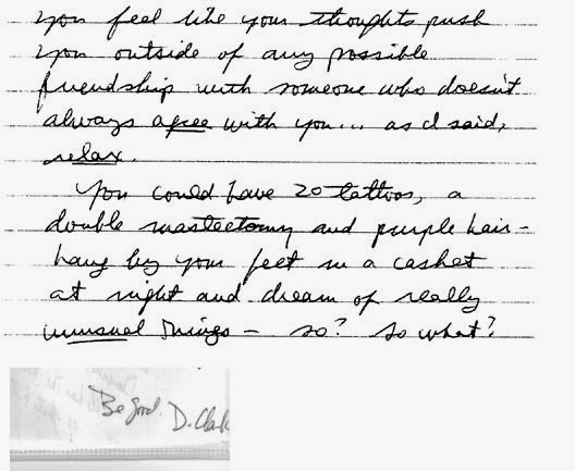 Handwriting Analysis Samples