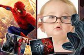 Moldura Homem-Aranha para fotos infantil
