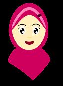 ^doodle muslimah Cik Bulat^
