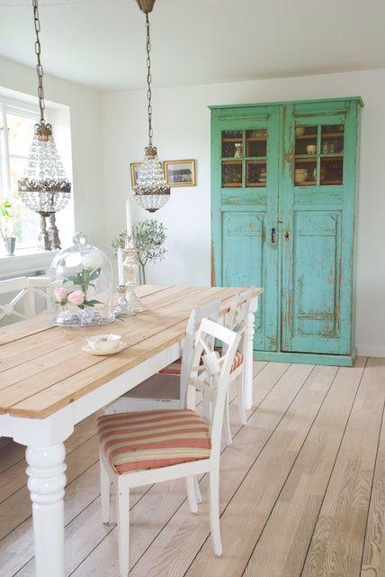 Keuken Blauw Groen : Dit kastje heb ik ook in wit, maar dit is gaaf! wat een mooie groene