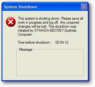 penghitung waktu shutdown
