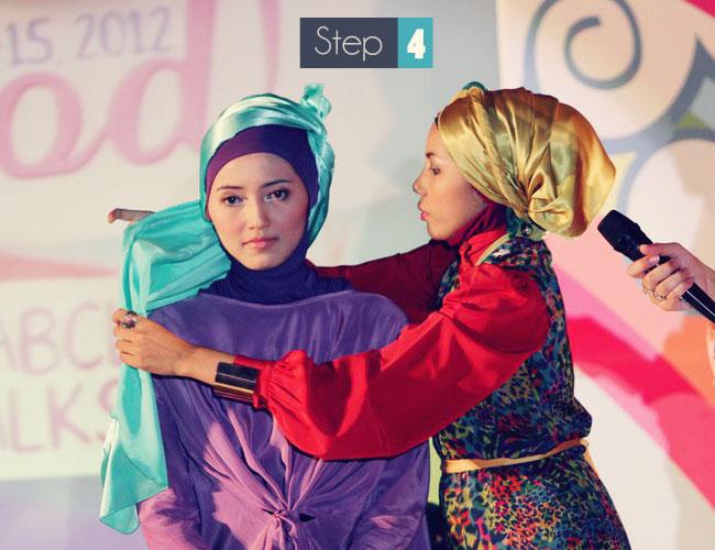 cara memakai jilbab untuk idul fitri