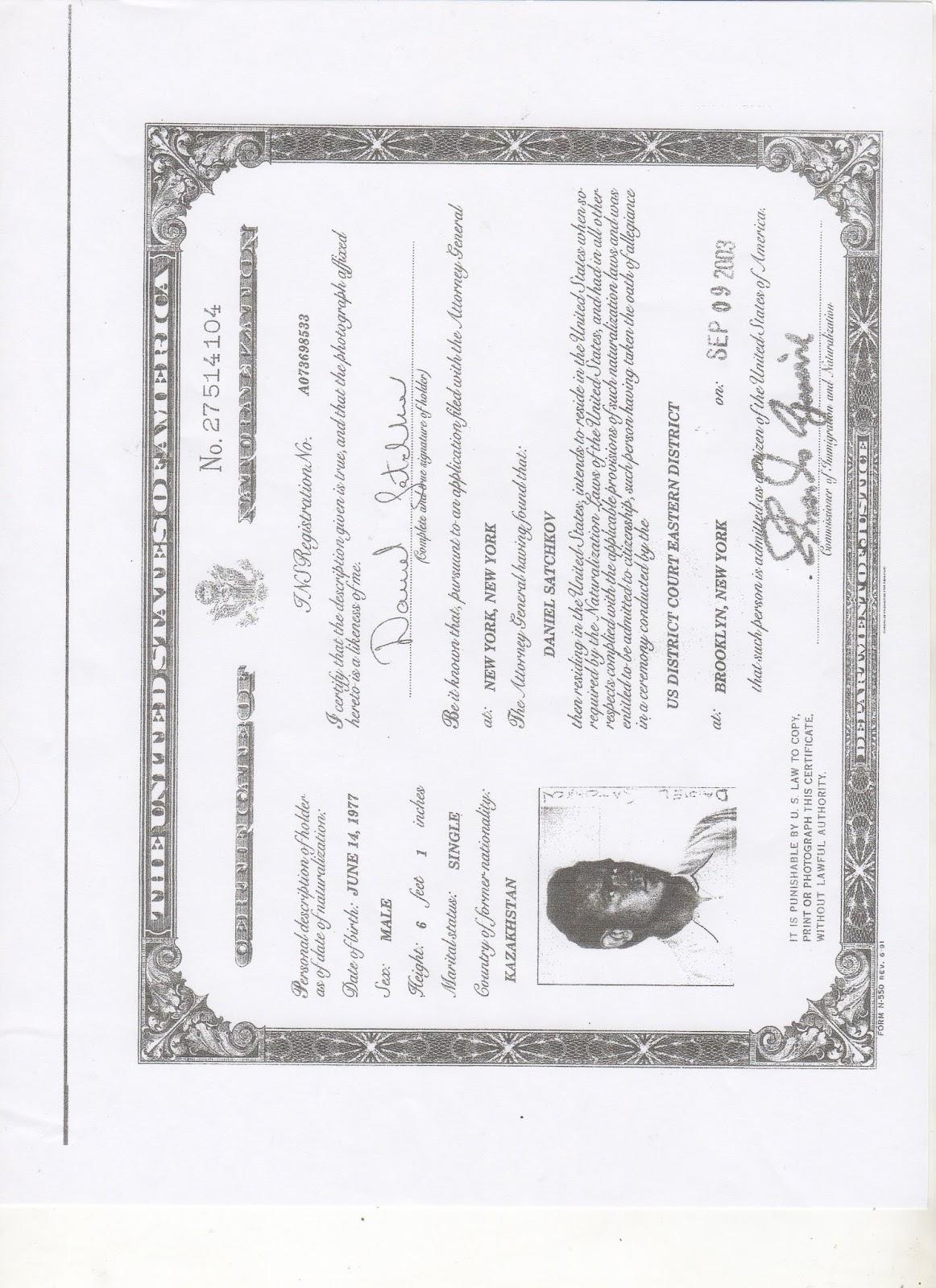 Can You Make A Copy Of Naturalization Certificate