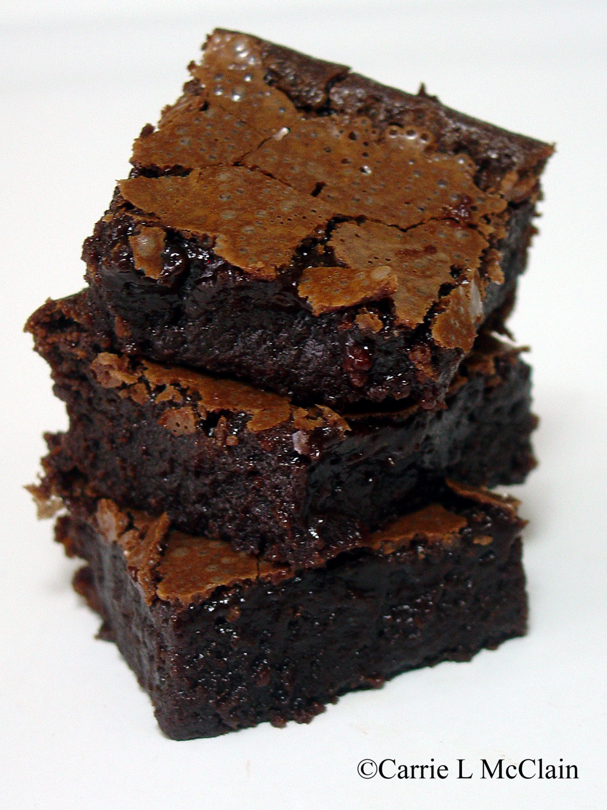 note the postmodern brownie stacking technique - clearly ...