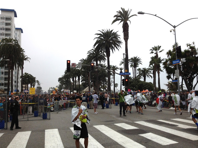 Crowds after LA Marathon Finish Line