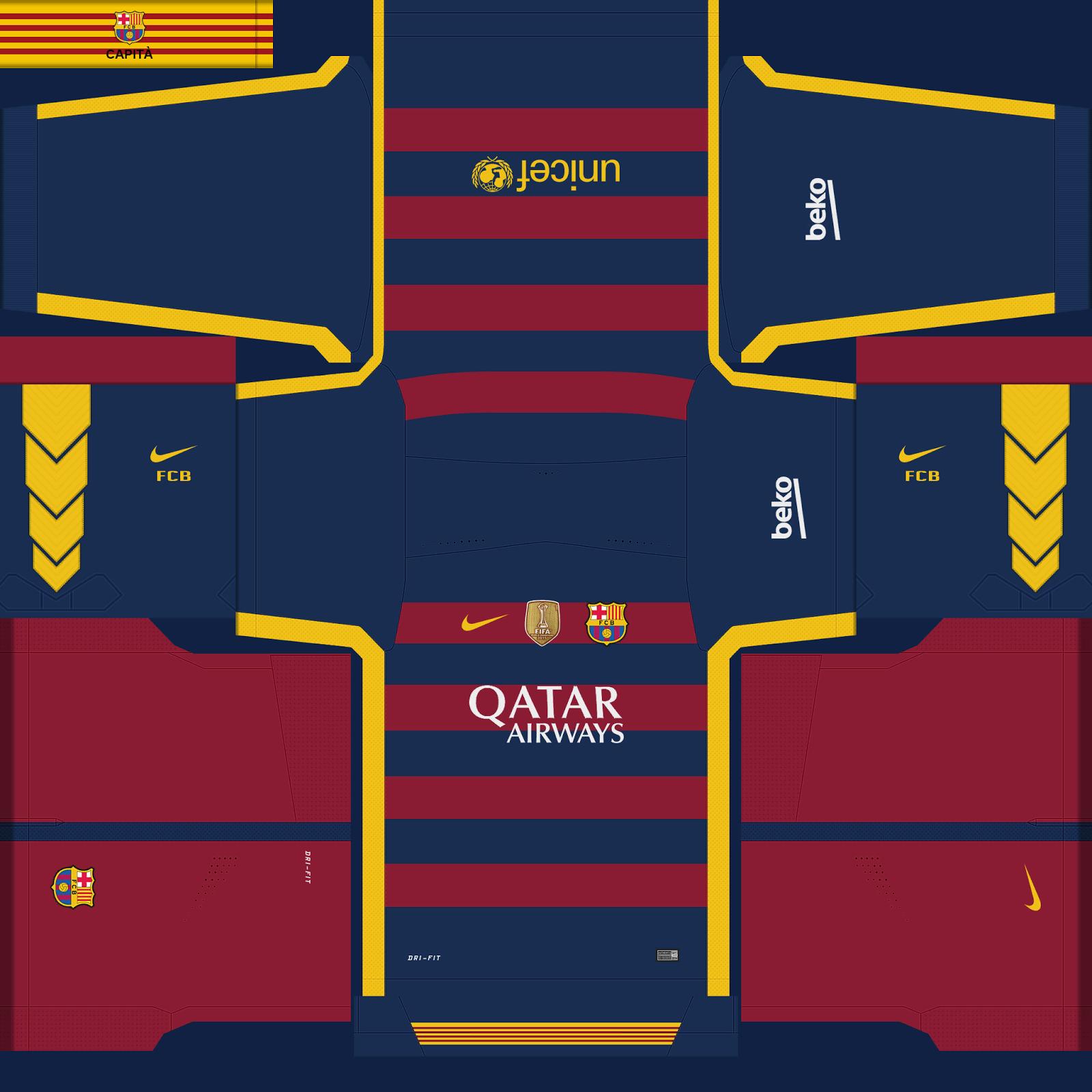 fc barcelona kits campeones mundial de clubes pes 201516