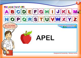 Program Game Pengenalan Huruf Pada Anak Usia Dini