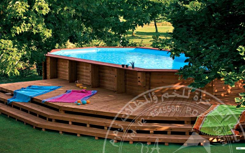 bait al nokhada the leader in tents shades industry wooden swimming pools. Black Bedroom Furniture Sets. Home Design Ideas