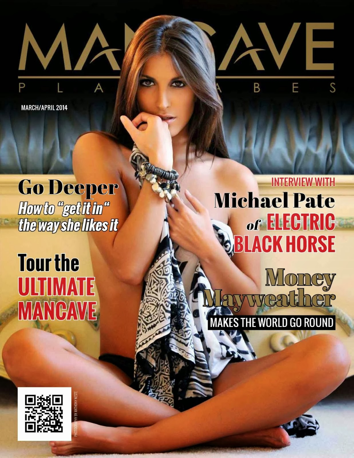 Elena Pappas HQ Pictures Mancave Playbabes Magazine Photoshoot March / April 2014