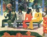 Paul Gauguin (44 años) - Ta matete (El mercado) (1892)