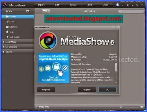 serial number CyberLink MediaShow Ultra 6.0.7616