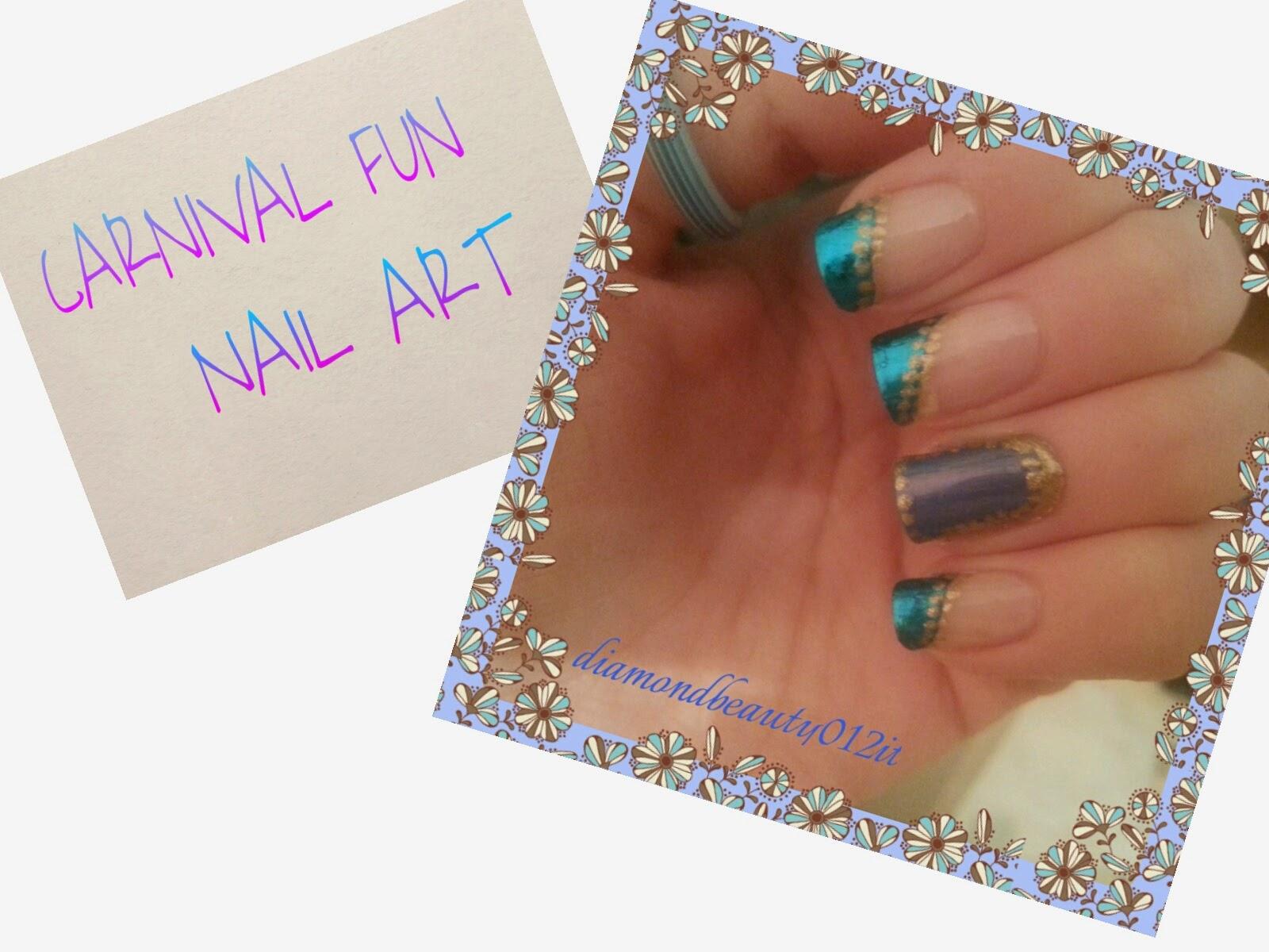 nail art per il carnevale