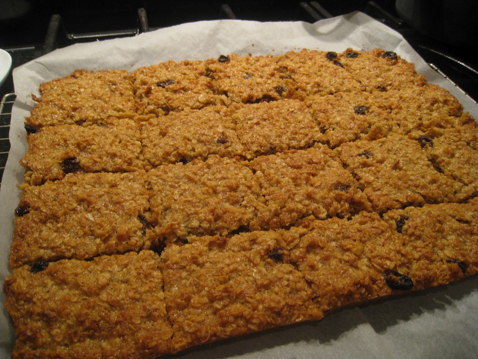 me and mine banana flapjacks