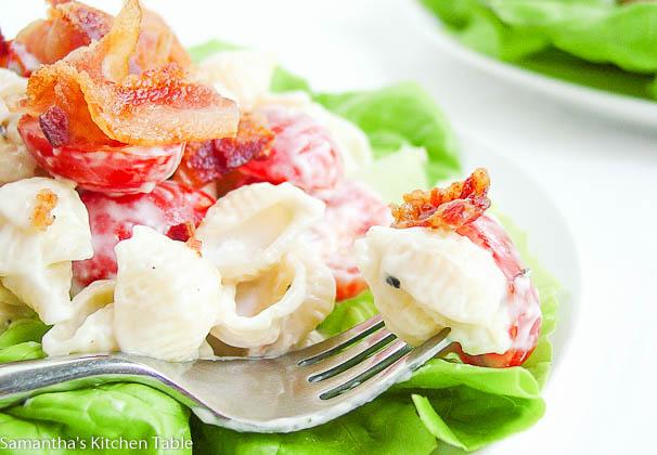 Lowfat BLT Pasta Salad