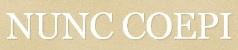NUNC COEPI - Blogue sugerido para questões de formação, doutrina, reflexões e comportamento humano