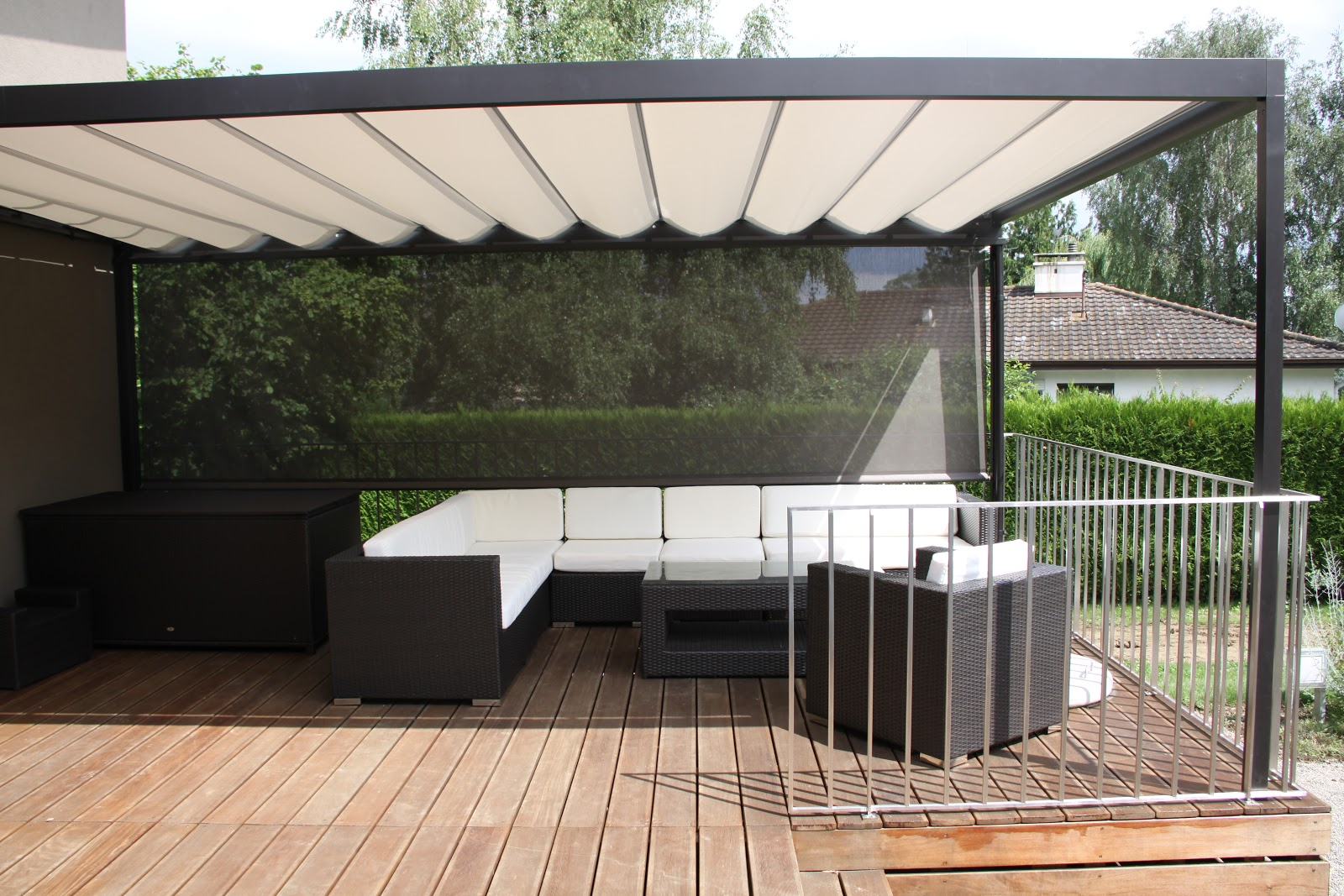 Sun Shade For The Large Deck Living In Switzerland